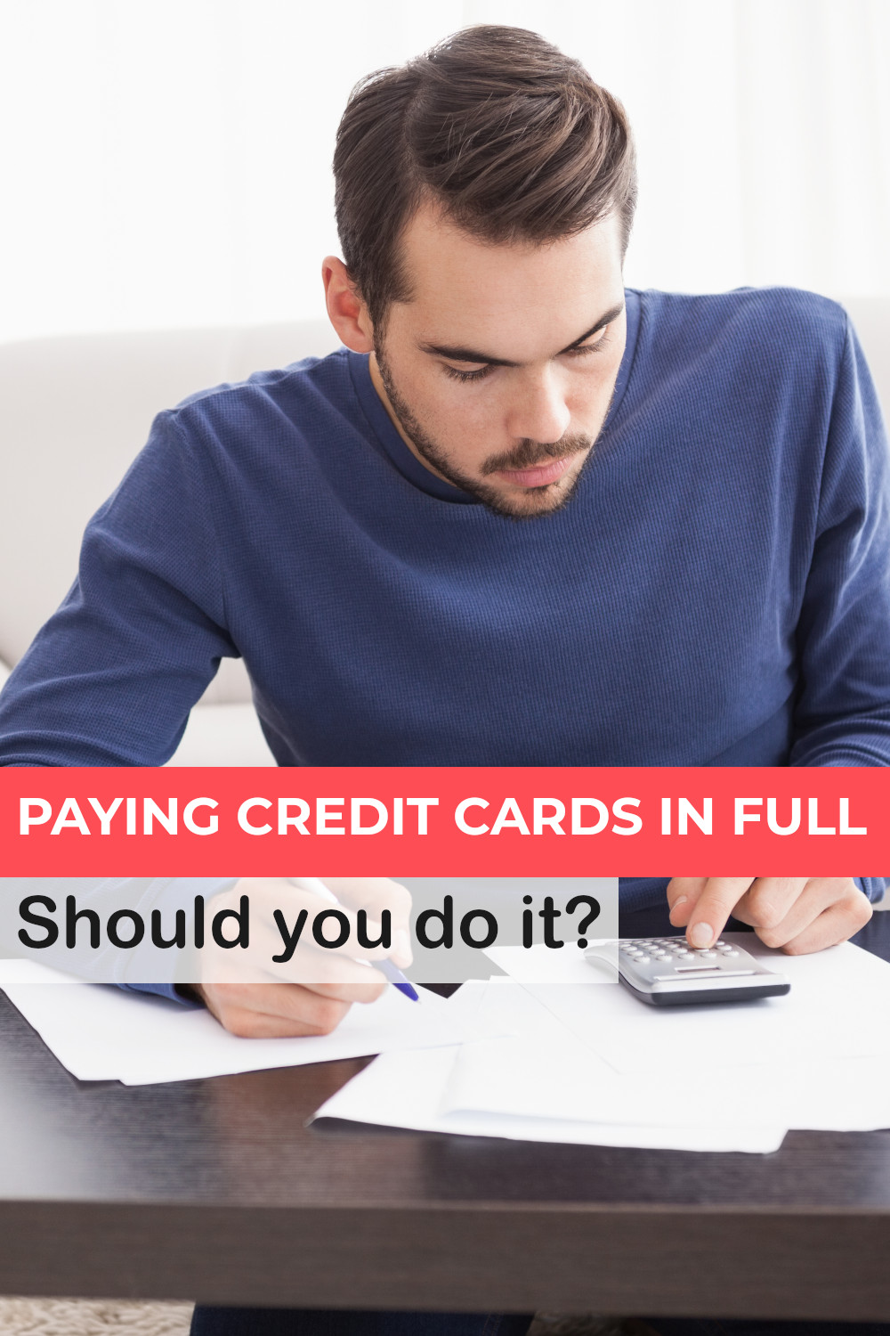 Paying off credit cards in full - the pros and cons and important things you should know.