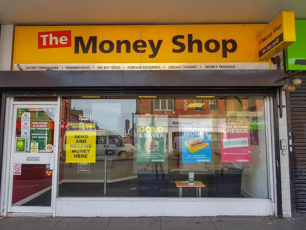 The Moneyshop store in Liverpool stands empty following the lending company's collapse.